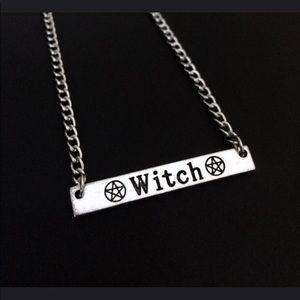 Jewelry - Witch pentagram bar necklace